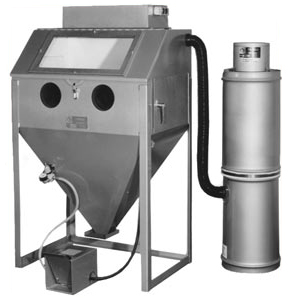 MM3624C Suction Blasting Cabinet shown with BP Dust Collector