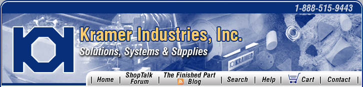 Kramer Industries, Inc. Mass Finishing Equipment and Supplies. 1-888-515-9443