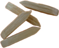 hardwood tumbling media double wedge-ended pegs