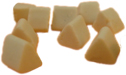 precision ceramic tumbling media triangles