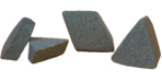 ceramic tumbling media angle cut triangles