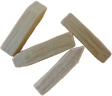 hardwood tumbling media pegs