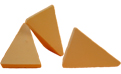 synthetic tumbling media wedges