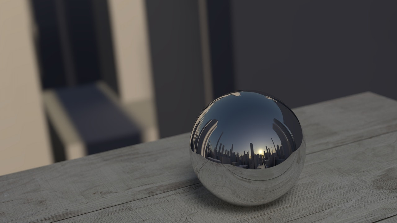 mirroring ball reflection