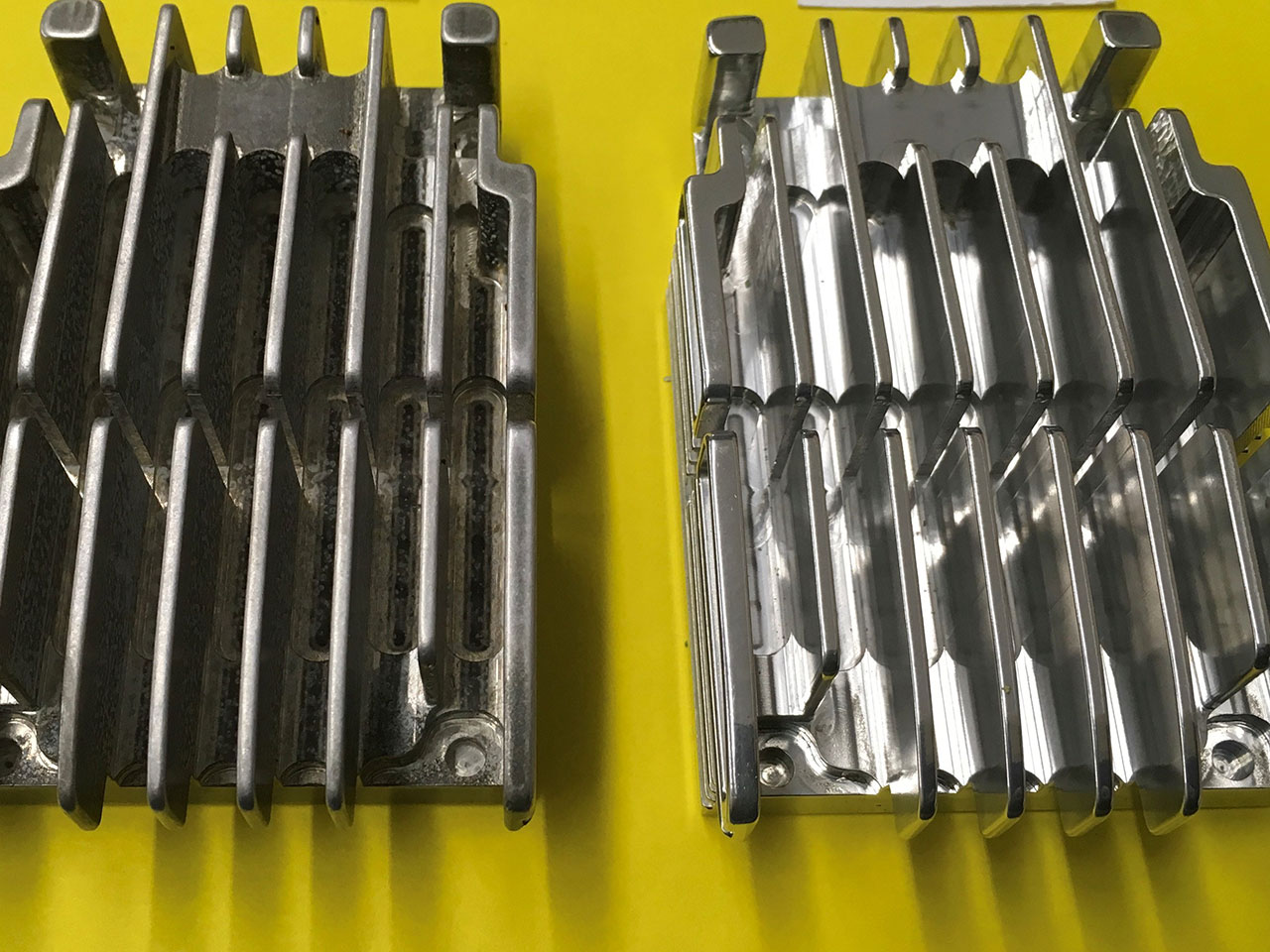 Deburring and Polishing Aluminum Heat Sinks