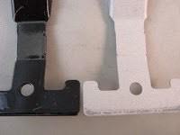 Tumble blasting paint hooks