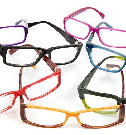 Barrel-Finished Plastic Eyewear Frames