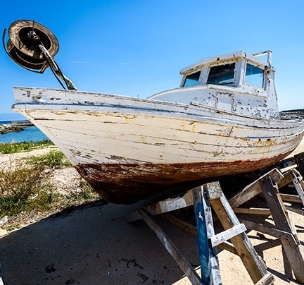 Older Boat on the Coast