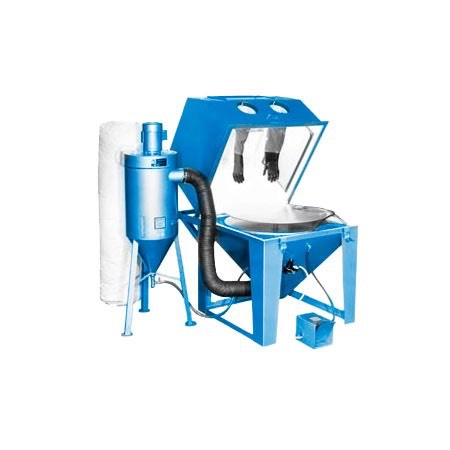 mm4040s_turntable - SS Series - Industrial Grade, Suction Style, Abrasive Blasting Cabinet System
